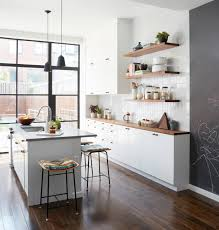 light grey kitchen cabinets with wood countertops 75 beautiful kitchen with wood countertops pictures ideas