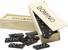 domino domino game in a wooden box neutral toy game reklámajándék