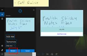 how to create a reminder in sticky notes on windows 10 windows