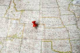 Colorado Usa Map by Red Pin On Map Of Usa Pointing At Denver Colorado Stock Photo