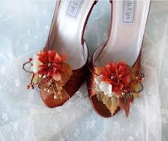 Red Barn Shoes Fall Wedding Shoe Clips Autumn Shoe Clips Rust Wedding Orange