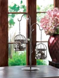 Birdcage Chandelier Shabby Chic Shabby Chic Hanging Bird Cage Chandelier Birdcage Candle Holder