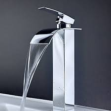 designer bathroom faucets contemporary waterfall bathroom sink faucet 8061 pinterdor