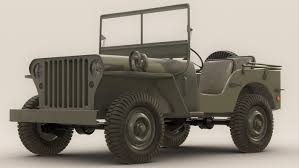 willys jeep offroad army jeep 3d obj