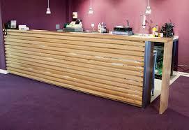 Reception Desk Wood by Borders College Reception Desk Real Wood Studios