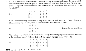 important questions for cbse class 12 maths properties of determinants