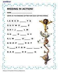 missing in action u2013 free alphabet worksheets for kindergarten