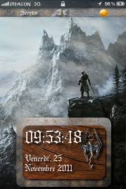 theme ls ls animated skyrim iphone 4 theme v 1 0 free