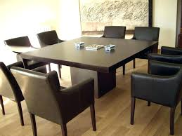 Large Square Dining Room Table Expandable Large Square Dining Table Seats 8 With Leaf For Within