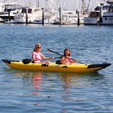 the inflatable clear bottom kayak hammacher schlemmer