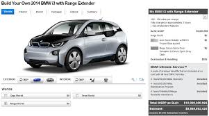 bmw build your car build your own bmw i3 rex base msrp now just