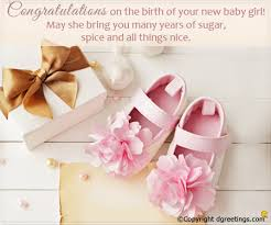 congrats on your new card congratulations on the birth of your new baby girl new born