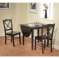 amazon com black 3 piece country cottage dining set table and 2