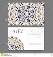 template for business invitation card postcard background with
