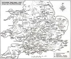 Nottingham England Map by A Large Scale Map Of Southern England Up To York In The Reign Of