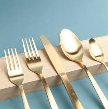 gold flatware rental matte gold flatware matte gold flatware set matte gold flatware