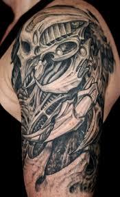 25 amazing biomechanical tattoos design biomechanical