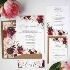 wedding invitations burgundy burgundy wedding invitations burgundy blush wedding