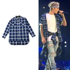 tartan clothing mens shirts fashion 2017 justin bieber designer
