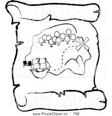pirate treasure coloring book clipart free clipart