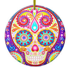 day of the dead tree decorations ornaments zazzle co uk