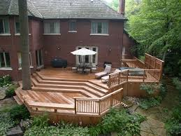 backyard wood deck ideas home outdoor decoration