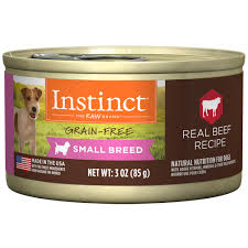 nature u0027s variety instinct small breed grain free beef canned dog