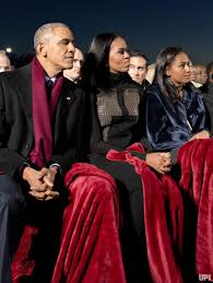 the obamas light the national tree in studded