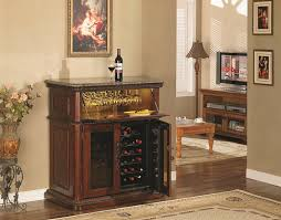 Furniture Cabinet Fascinating Bar Cabinet With Brown Wall Design - Family room storage cabinets