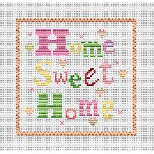 cross stitch patterns free printable home sweet home free chart