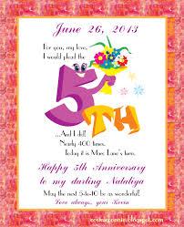 5th year wedding anniversary 5th wedding anniversary wishes wedding gallery