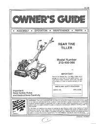 mtd rear tine tiller parts model 213430000 sears partsdirect