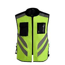 fluorescent cycling jacket reflective cycling jacket safety rflective vest windproof