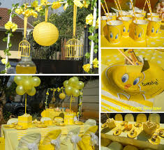 tweety themed kiddies party and candy table by co ords kidz party
