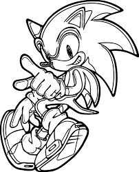 sonic the hedgehog dance coloring page wecoloringpage