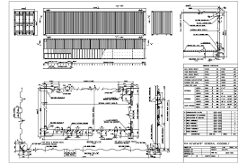 40hc technical drawing shipping container dimensions