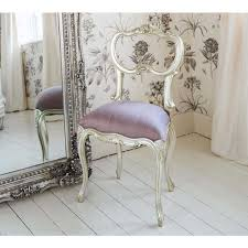 sylvia silver and lilac silk seat bedroom chair lilacs and bedrooms