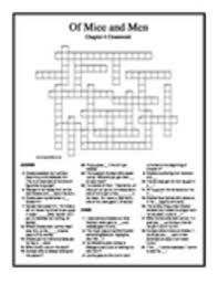 of mice and men chapter 5 crossword puzzle by jim tuttle tpt