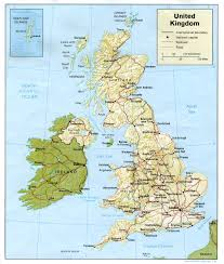 Wales England Map by