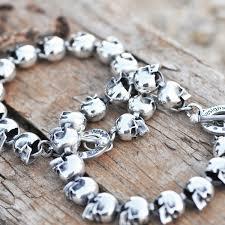 bracelet skull silver images Small skull bracelet n a designs jpg
