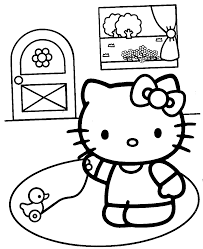 kitty coloring pages dinosaurs flower images
