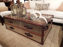 coffee table old military trunk and reclaimed 2x4s with metal