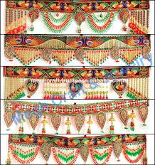 indian antique kutch mirror work embroidered toran wholesale