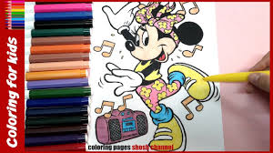 minnie mouse coloring pages dancing coloring tutorial from