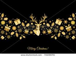 Decoration Happy New Year Christmas Pattern Golden Tree Decoration Happy Stock Vector