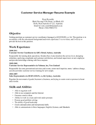 manager resume objective examples resume example and free resume