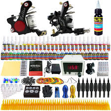 tattoo kit without machine amazon com solong tattoo complete tattoo kit 2 pro machine guns 54