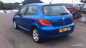 peugeot blue peugeot 307 s blue 2007 youtube