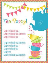 Tea Party Invitation Card Tea Time Card Vector Illustration Royalty Free Cliparts Vectors