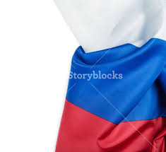 White Blue Orange Flag Russia Flag Background Tricolor Isolated On White Background